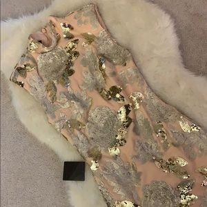 Bebe Harley floral sequins dress